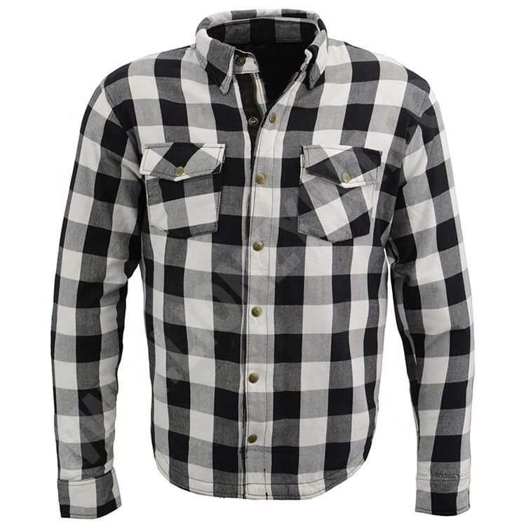 OEM Cheap Price Motorcycle Men's Flannel Shirt with CE Certified Armors