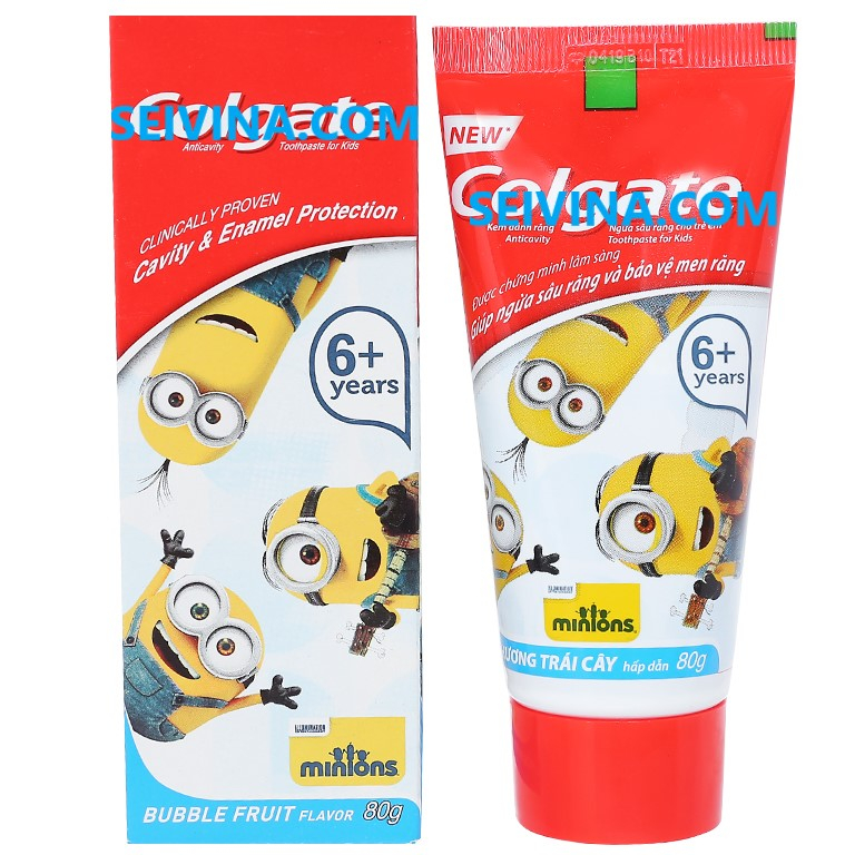 Minion baby toothpaste kids fruit flavor prevents tooth decay, protects tooth enamel toothpaste