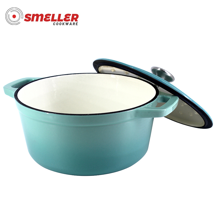 Cast Iron Enamel  Covered Casserole with lid