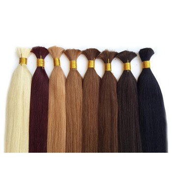 Silky Straight Human Hair Bulk For Braiding 100% Human Hair Natural All Color Bulk Braiding Human Hair