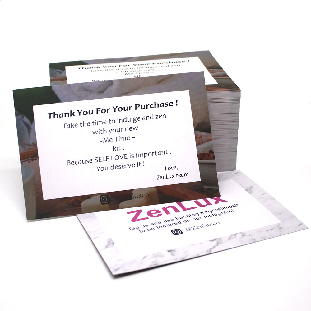 Hot Sale Wholesale China Factory OEM Custom Business Thank you Cards with Logo Card Printing