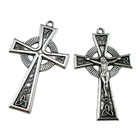 Antique Silver Religious INRI Celtic Crucifix Cross Pendant