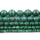 Faceted Natural Green Malachite Round Loose Stone Beads For Jewelry Making DIY Necklace Bracelets 4 6 8 10 12 14mm
