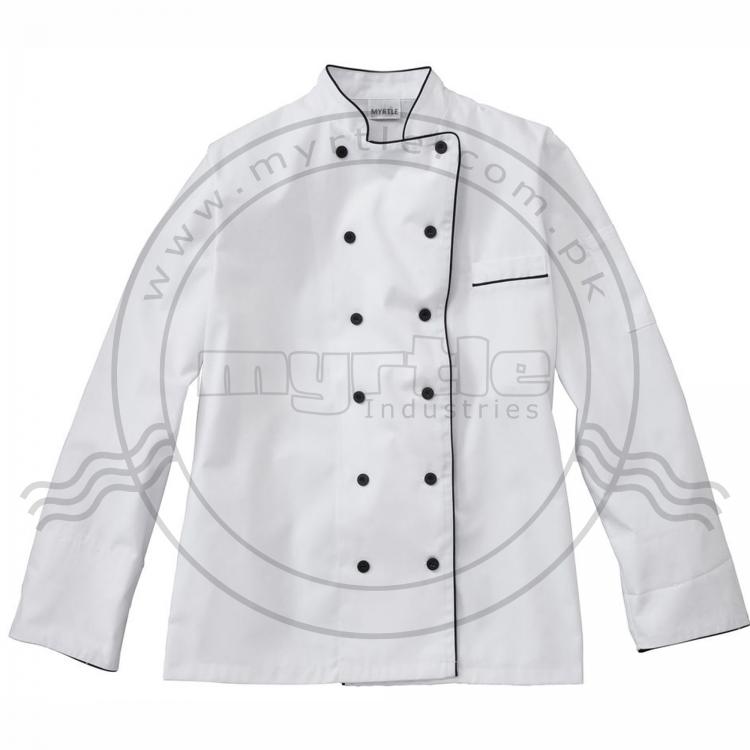 Logo Printing Chef Uniform Food Service Cook Jacket Coat Solid Man Kitchen Restaurant Bakery Clothing Shirt