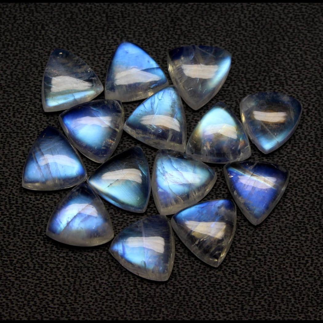 Natural  Rainbow moonstone cut stones  Rainbow   Blue Fire Rainbow Moonstone for Jewelry use  Indian Rainbow Moonstone