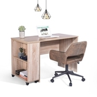 Table US STOCK Laptop Computer Desk Portable Workstation Writing Table With Removable Shelves Storage Saving