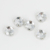 SUNMEI Factory 6mm-25mm Round Chess Cut Rhinestones with Silver Prong Settings for Sew on Dresses Clothes Bags Shoes