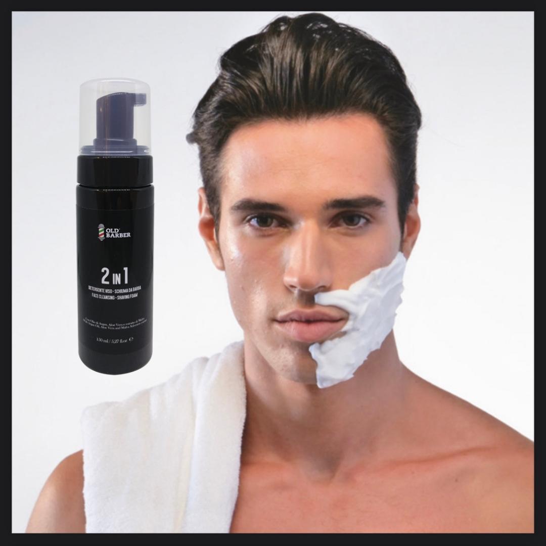 Высококачественная пена для бритья для мужчин 2 в 1, Сделано в Италии