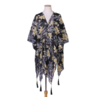 Cape Womens Floral Printed Bohemian Chiffon Shawl Wrap Poncho Cape Tunic Scarf Cover Wraps