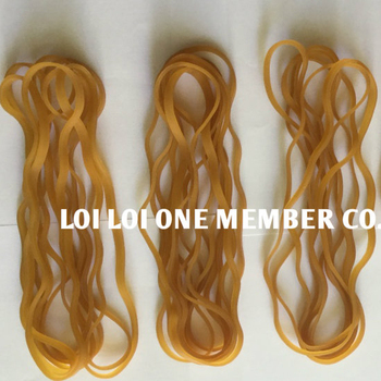 2020 New products 100% Pure Natural Latex Rubber Band / 200MM strong Rubber bands wide Natural Color for Agriculture