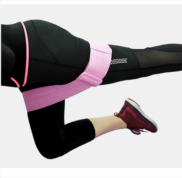 Adjustable Yoga Strap Hip Loop Resistance Bands Anti Slip Workout Elastic Booty