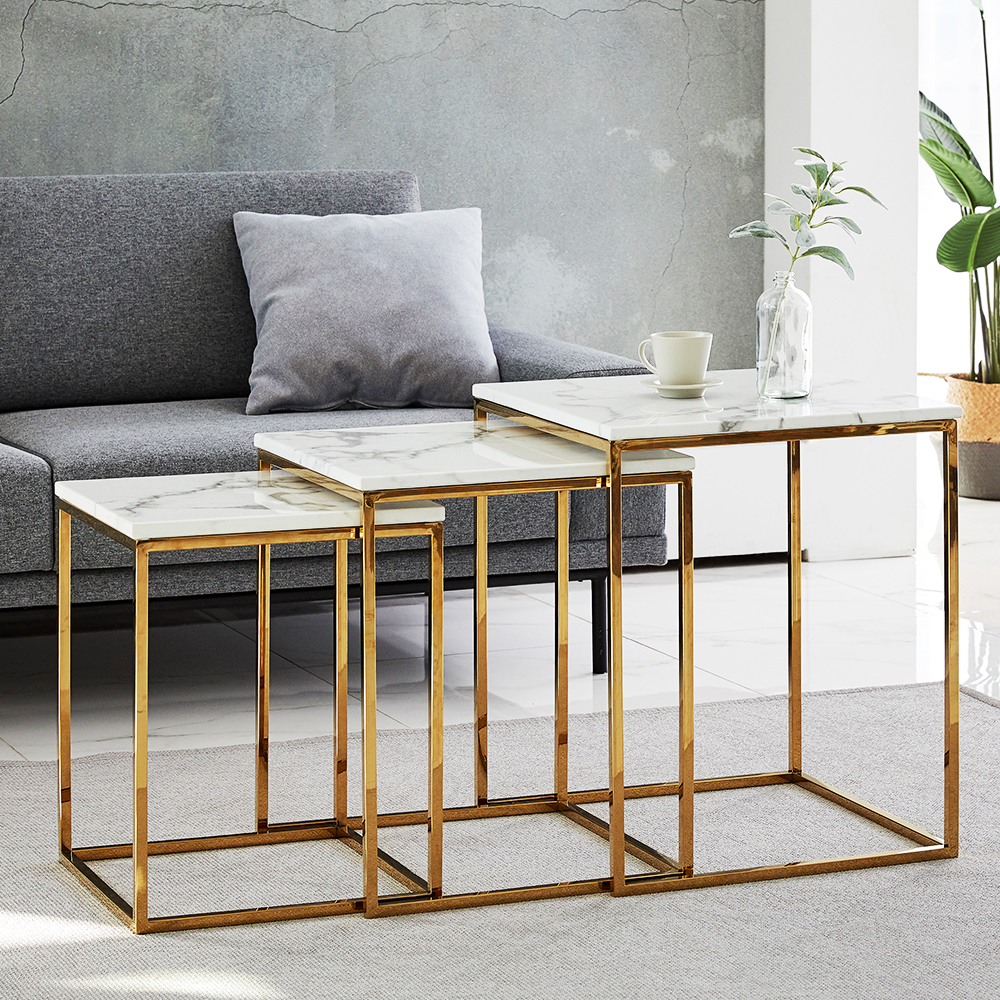 Modern Living Room Furniture Nesting Coffee Table Gold Stainless Steel Square White Marble Side End Table Buy Coffee Table Coffee Table Modern Coffee Table Sets White Coffee Table Modern Multifunction Coffee [ 1000 x 1000 Pixel ]