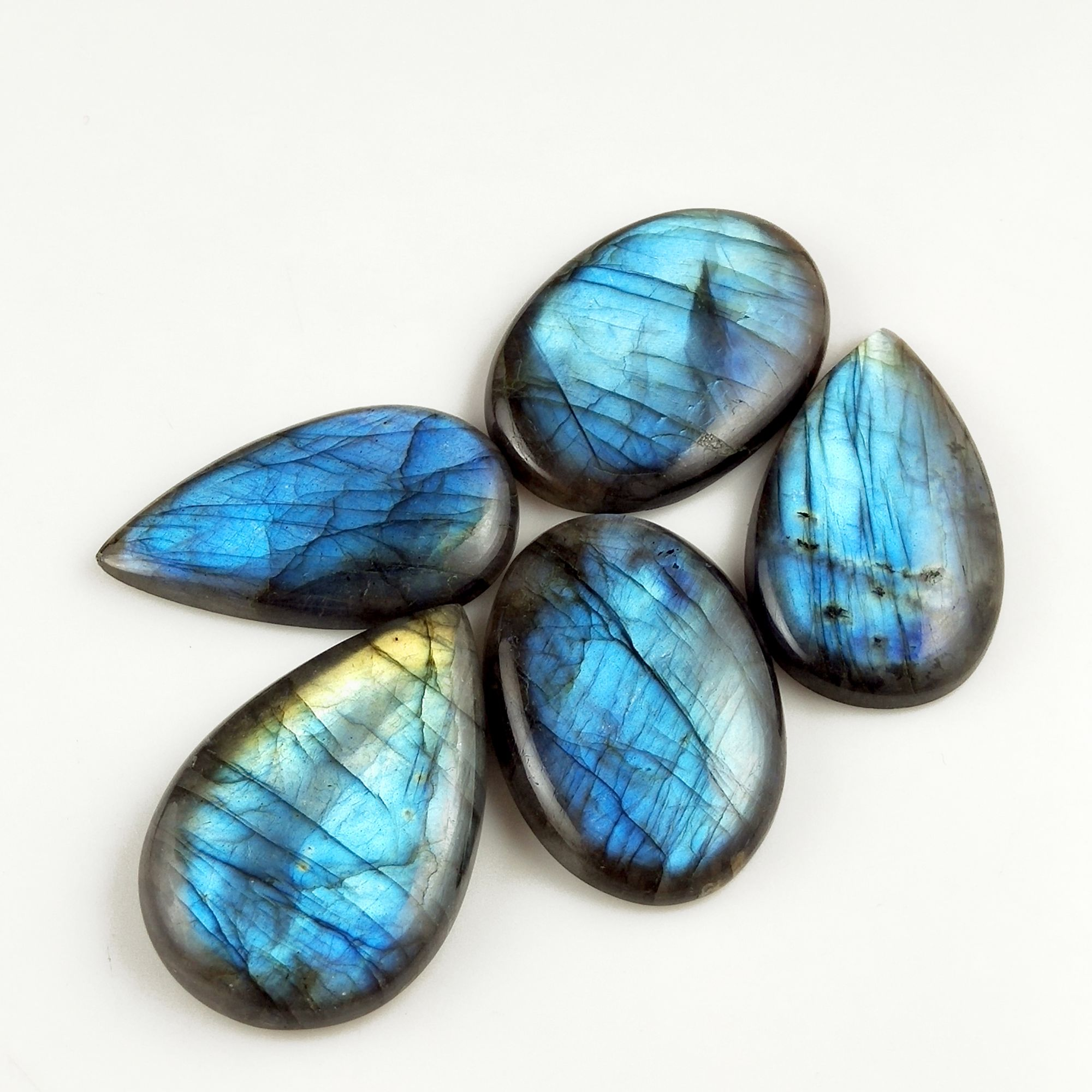 Spectrolite Pears Faceted