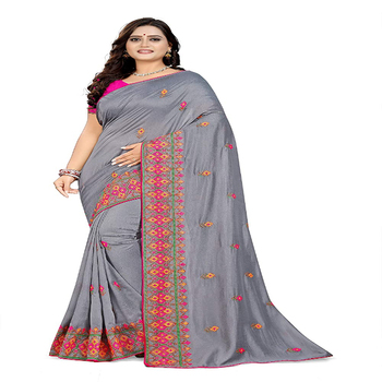 Psm Fashion Special Heavy Work Bollywood Designer Indian Wear Sari Women's Embroidery Sarees Latest Designing
