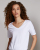 New Women's Cotton Polyester High Quality V Neck T-shirt/Bulk Wholesale Short Sleeves Women's Plain T-shirt