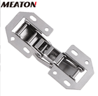 Not Full Meaton 3 Inch 90 Degree Not Drilling Hole Furniture Hinges Bridge Shaped Spring Frog Hinge Full Overlay Cupboard Door Hinges