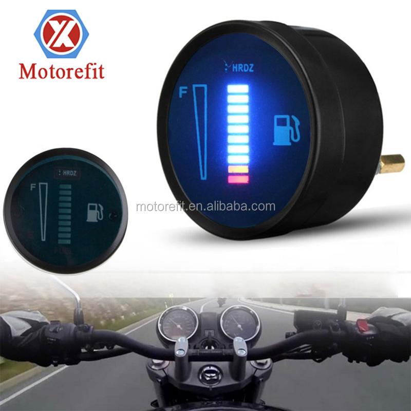 RTS мотоцикл измеритель уровня топлива Манометр 2 дюйма 52 мм светодиодный цифровой Спидометр Универсальный топливные баки для измерители уровня масла