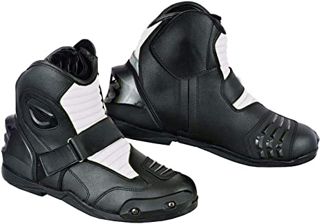 Motorbike Racing Leather Riding Boots