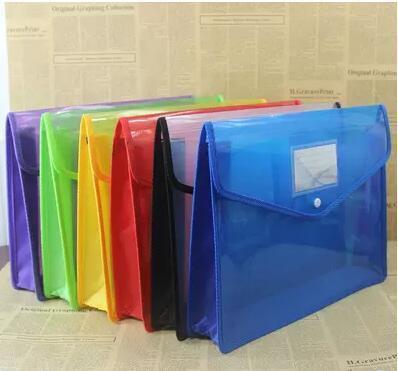 Прозрачная папка для документов с кнопками-застежками, пластиковая полипропиленовая сумка или ПВХ папка для файлов на молнии, папка для файлов-конвертов