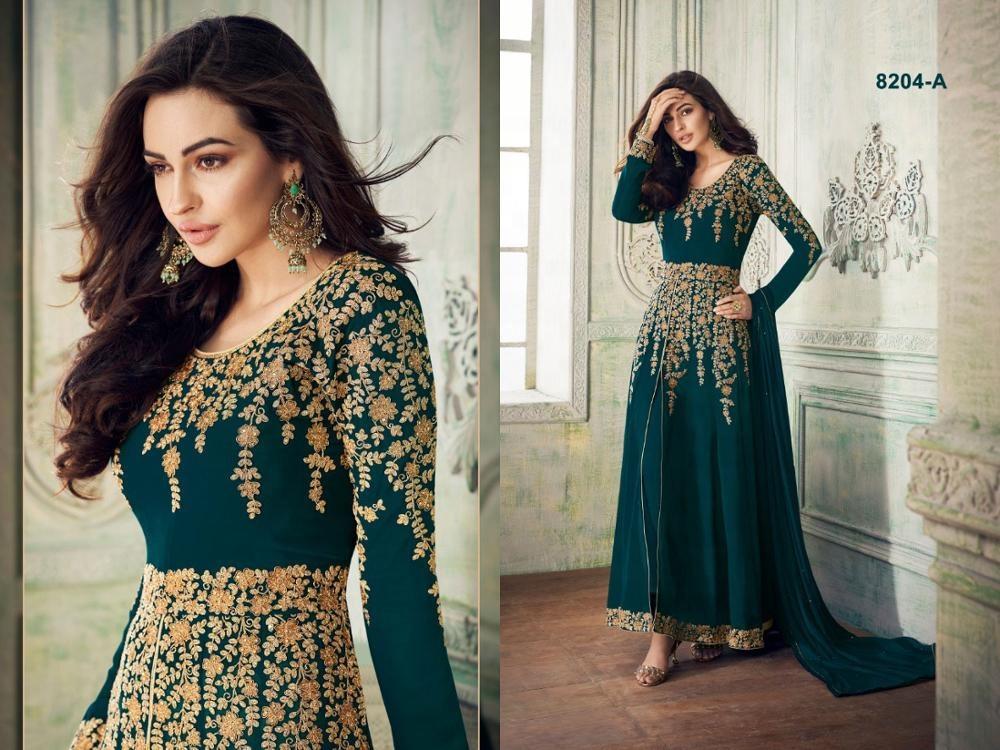 Indian Straight salwar kameez suits designer ethnic pakistani Suit