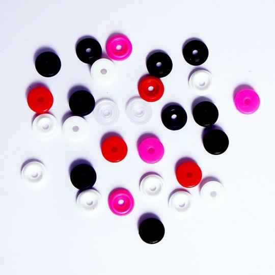 Разноцветные Пластиковые кнопки 10 мм для файлов и одежды