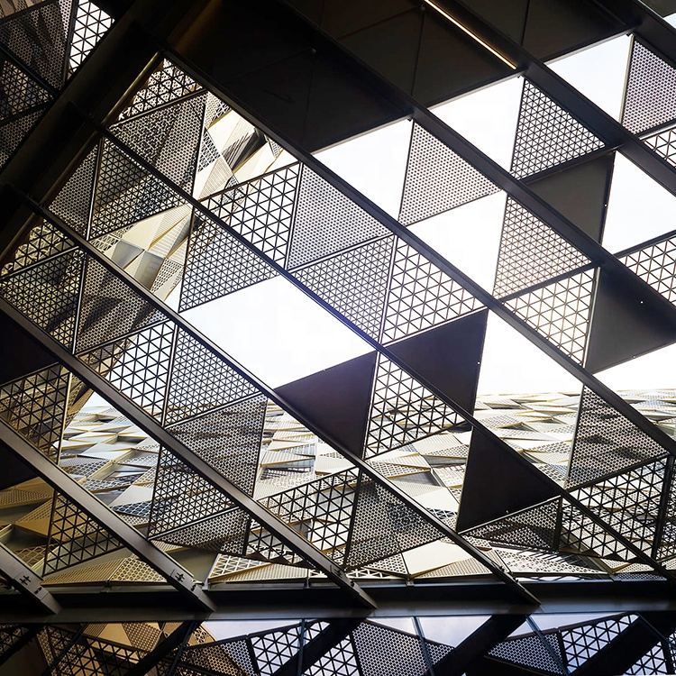 Художественная Внешняя облицовка стен, алюминиевая перфорированная конструкция фасадной панели