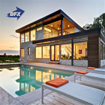 Luxury Prefab Fast Construction Light Steel Structure Prefabricated Luxury House Villa
