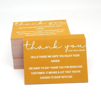 Print Eco Friendly Mini Cute Shopping Impression Custom Thank You Cards