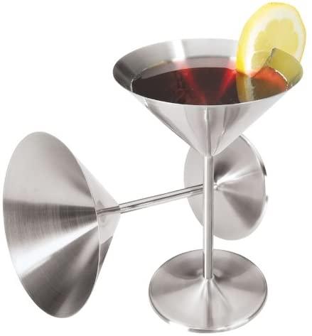 Винные аксессуары, стакан для мартини из нержавеющей стали