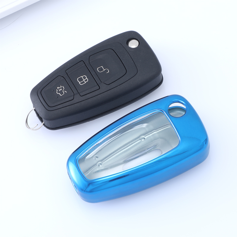 Tpu transparent key case customized Ford car key cover shell for Ford flip key high quality wholesale