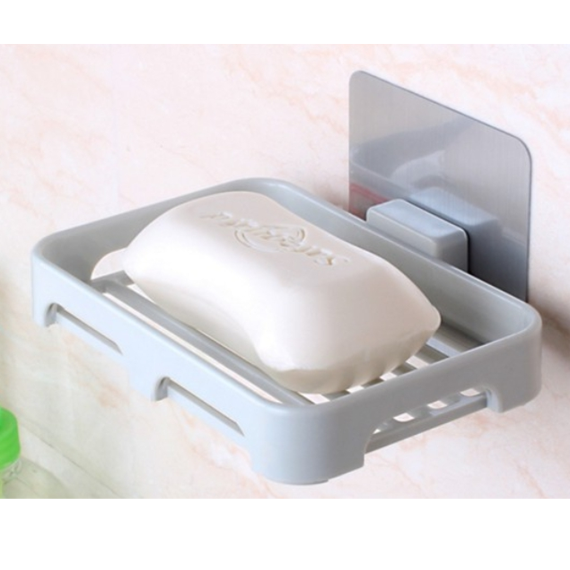 Suction Soap Dish with HooksPowerful Vacuum Suction Cup Soap Holder