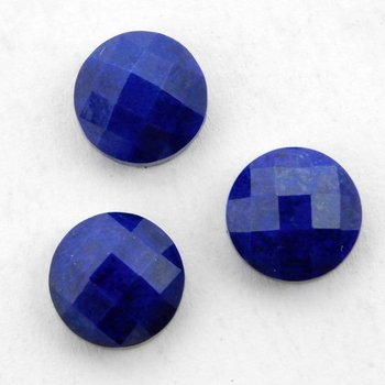 Lapis Lazuli Round Checker Cut 13mm Loose Gemstone round loose gemstone buyers Healing Pendant