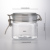 Christmas Gift 400ml Airtight Glass Candy Jar Replacement with Leak Proof Rubber Gasket and Hinged Lid