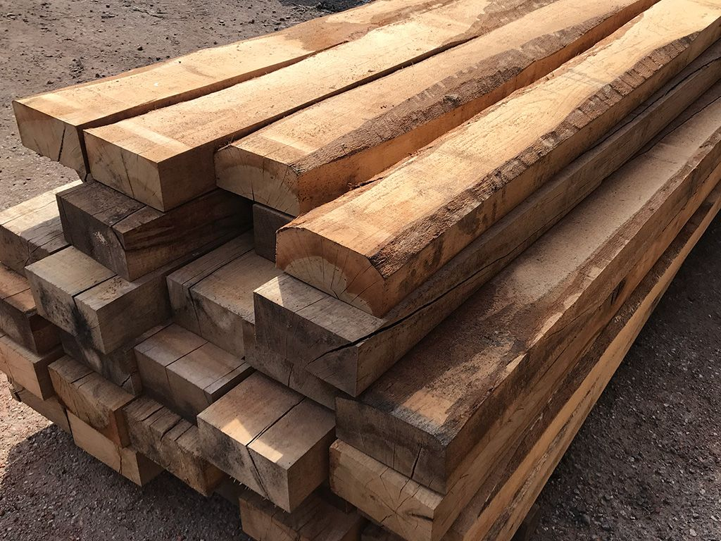 Hardwood Railway Wooden Sleepers Used For Railroad For Sale   Buy ...