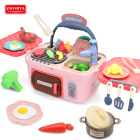 zhorya kid girl baby kitchen appliance pretend play cook food set toy for boy