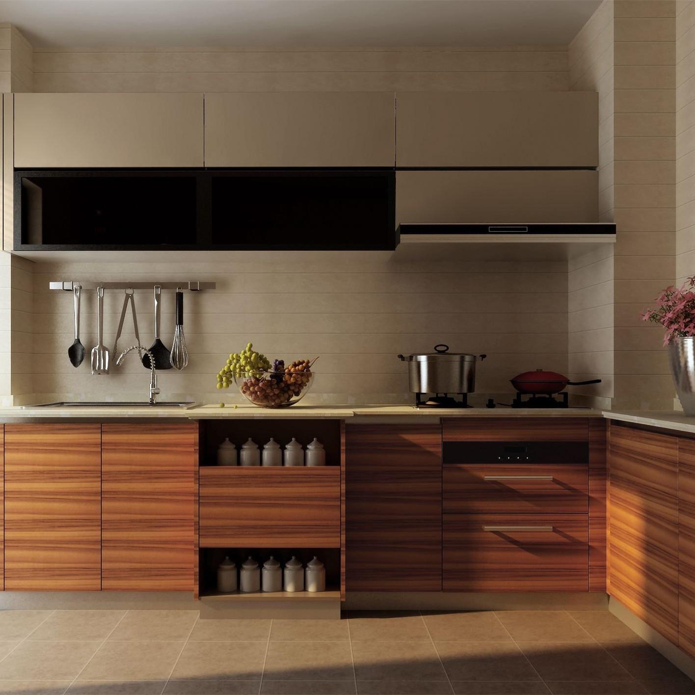 Foshan Furniture Kitchen Custom Design Melamine Kitchen Cabinet ...