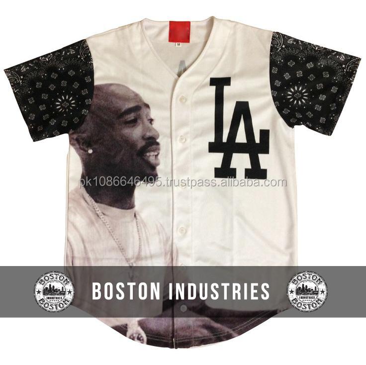 Tupac Sublimated Baseball Jersey Shirt Street Wear Baseball Jersey Urban Clothing Baseball Jersey - Buy Stylish Baseball Jersey,Sublimated Baseball ...
