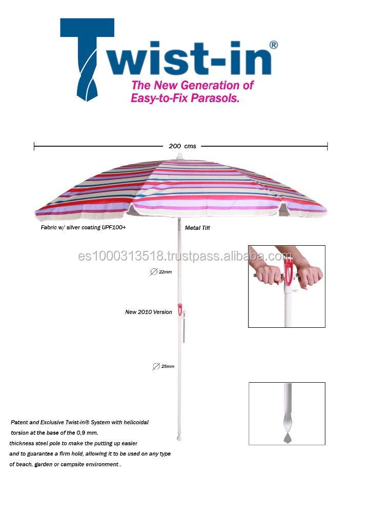 TWIST-IN BEACH UMBRELLA