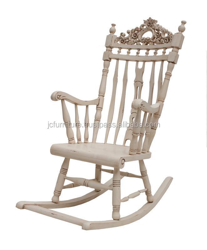 chaises bascule blanc peint fran ais meubles en acajou de style bois autres meubles antiques. Black Bedroom Furniture Sets. Home Design Ideas