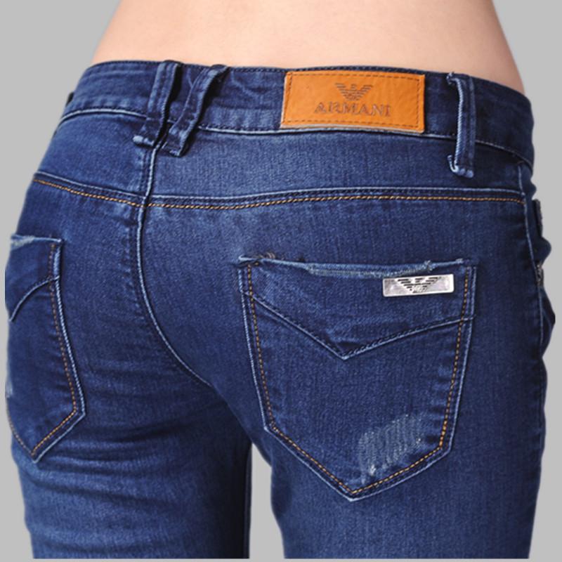 Джинсы для женщины / женское, Марка италия мани известный Desiger джинсы брюки, Узкие карандаш деним дамы джинсовый брюки