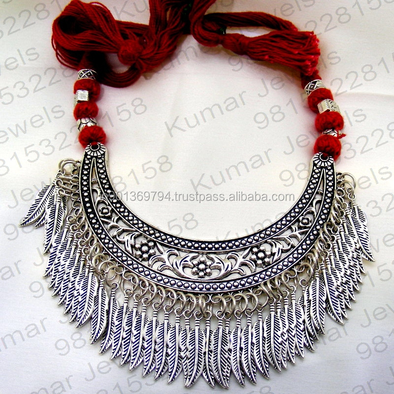 Details about  /Handcrafted India Silver Plated artisan Chain necklace