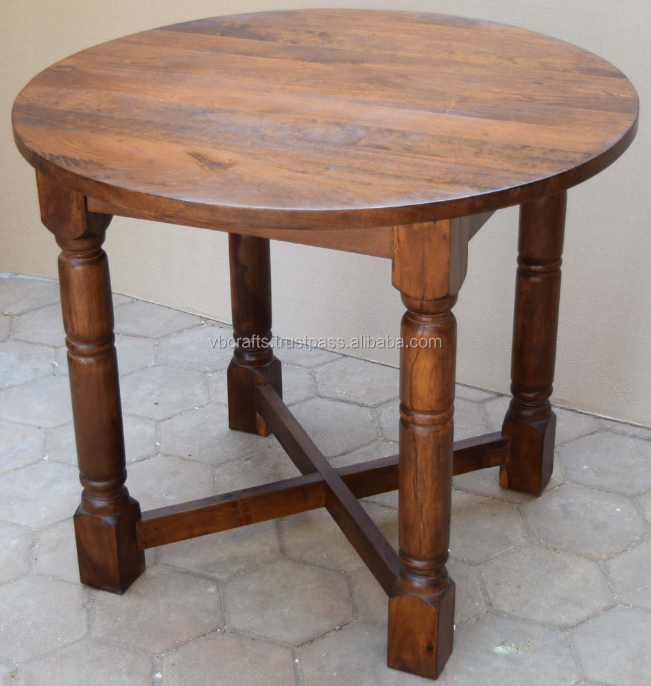 Mango Wooden Round Top Dining Table Buy Restaurant Round Folding Table Tops Solid Wood Flip Top Dining Table Ethnic Indian Furniture Product On Alibaba Com
