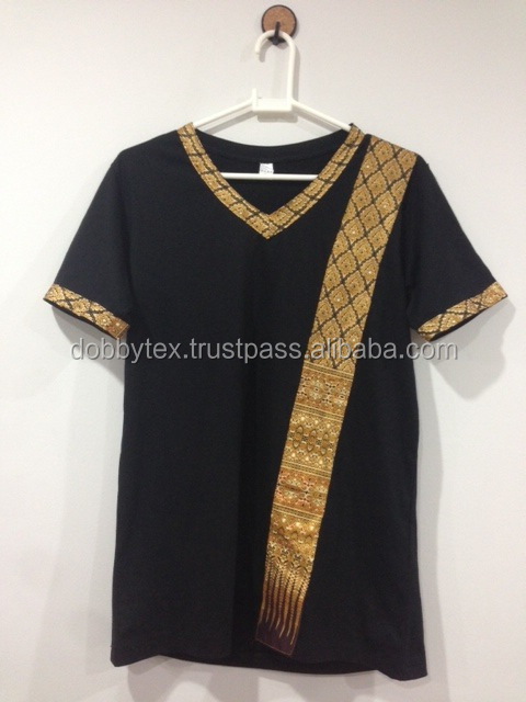 Spa t shirt thai pattern comfortable and original dobbytex for Spa uniform patterns