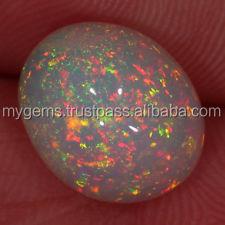 Ethiopian Opal Gemstone Multi Fire AAA Welo Opal Cabochon Natural Ethiopian Welo opal 11x9 MM Oval Cabochon GC#5206