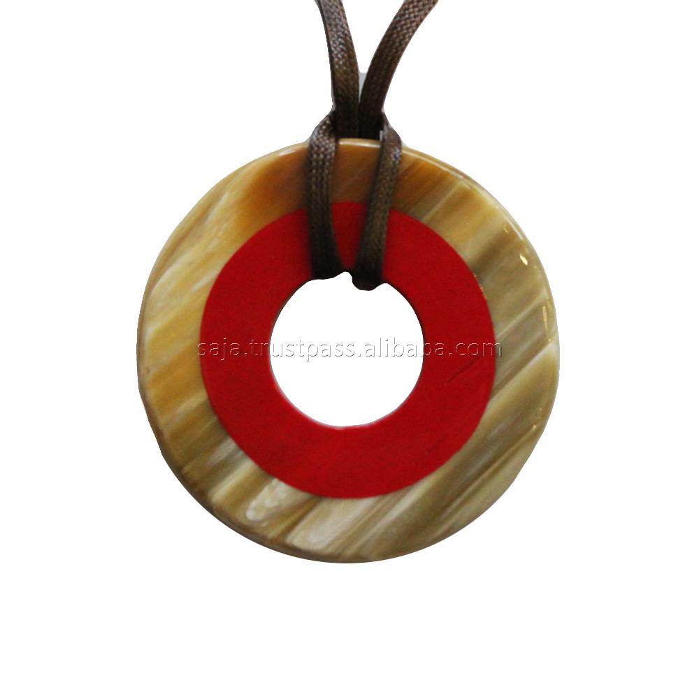bijoux corne de buffle vietnam KAI-5691 Buffalo horn lacquer pendant Buffalo horn pendant Pendentifs corne et laque de buffle