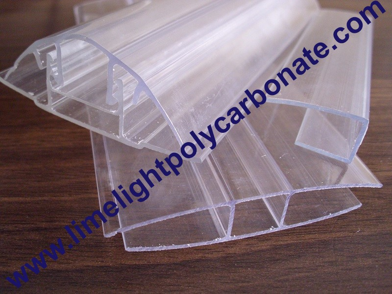 polycarbonate sheet profile polycarbonate cap and base profile polycarbonate connector. Black Bedroom Furniture Sets. Home Design Ideas