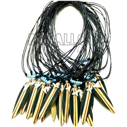Ожерелья из искусственной кожи с подвеской в виде мини-доски для серфинга в Балийском Стиле