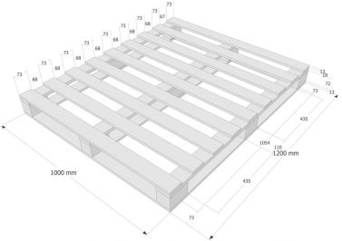 palette en bois taille 1000 x 1200 mm palettes id de. Black Bedroom Furniture Sets. Home Design Ideas