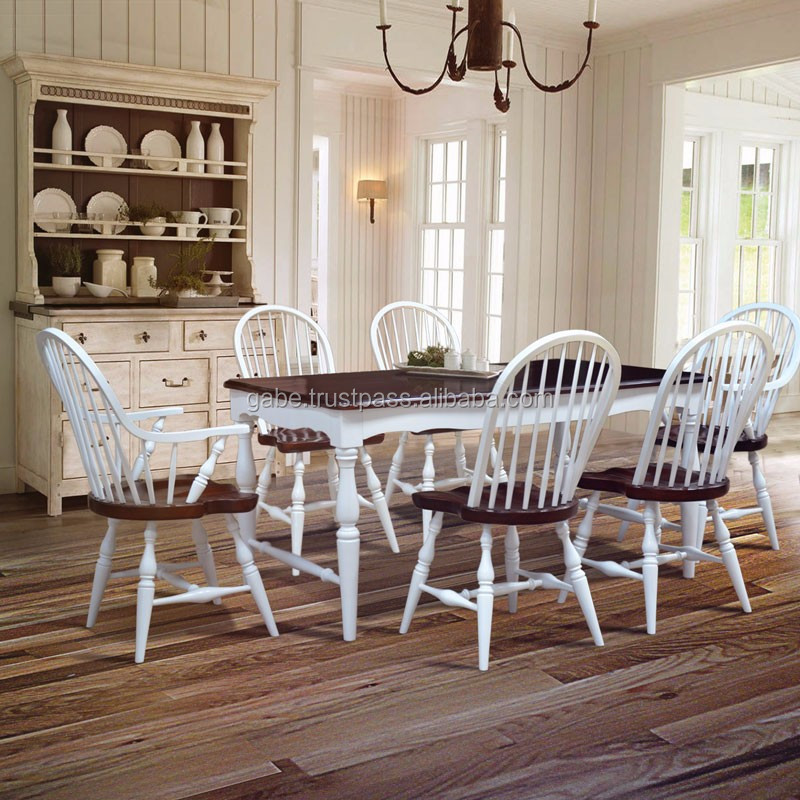 Furniture Dining Table Country Style Solid Wood Mahogany Two Tone Color 6 Chairs Buy Country Style Dining Room Chairs Solid Wood Furniture Solid Teak Dining Table And 6 Chairs Product On Alibaba Com