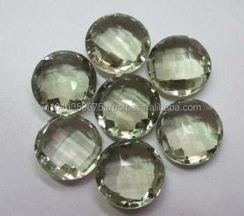 Green AA Amethyst Loose Gems Natural Stone Manufacture & Supply Wholesale Semi Precious Stones